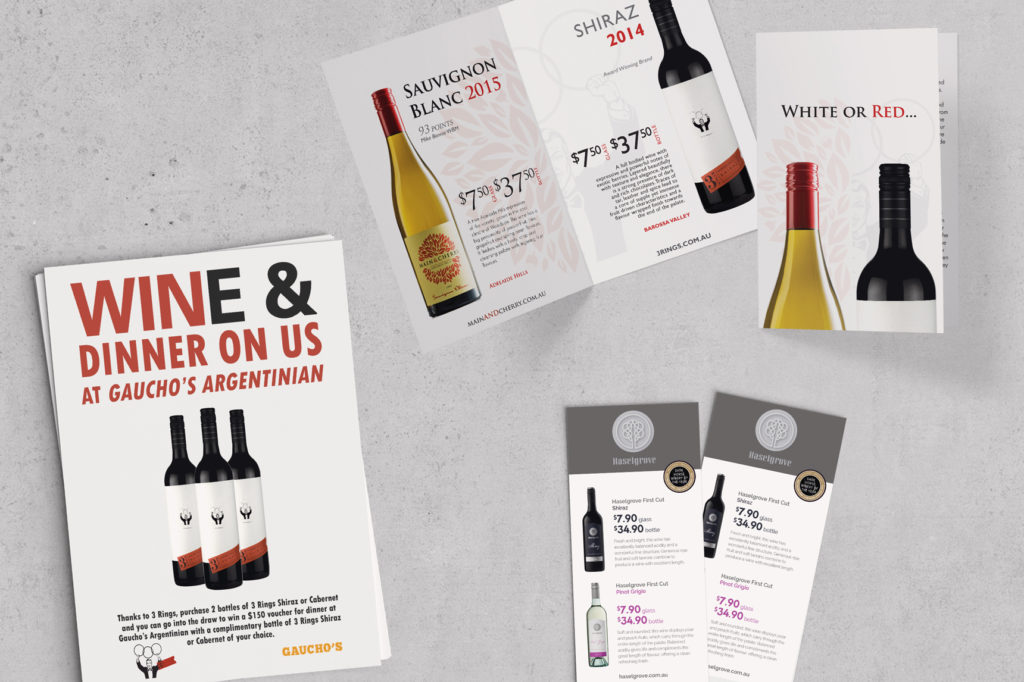 Beer & Wine Co Sales Collateral | Graphic Design Adelaide