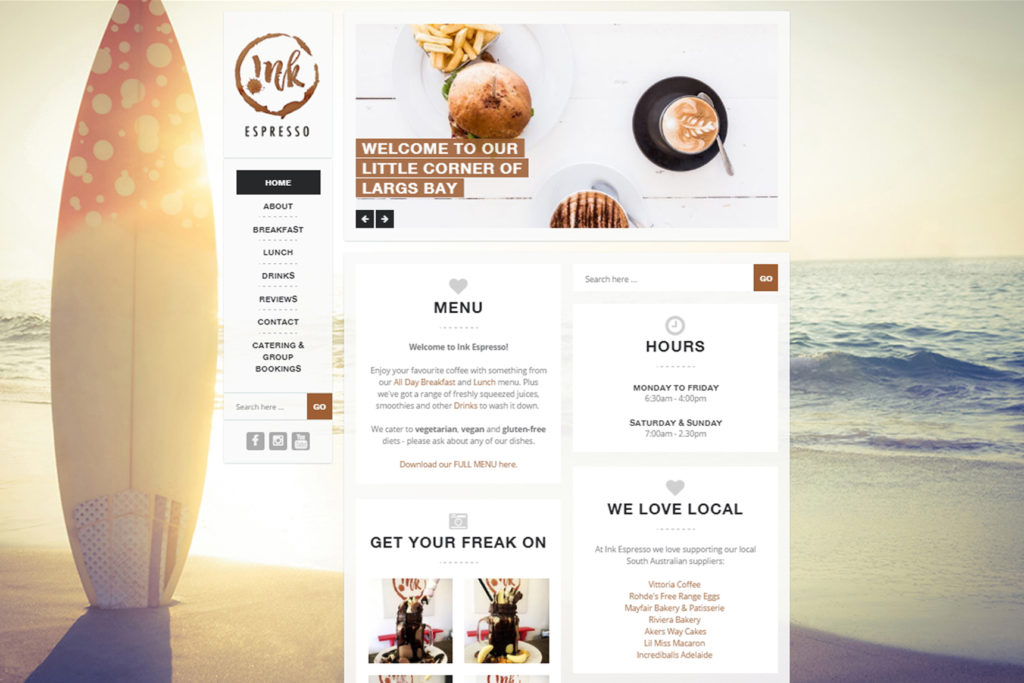 WordPress Website for Ink Espresso | Website Design Adelaide