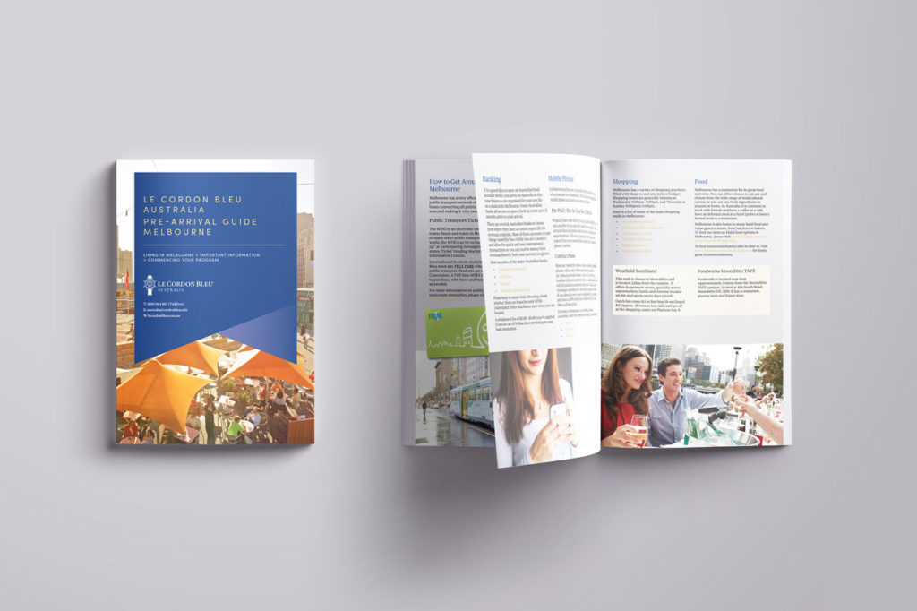 Le Cordon Bleu Pre-Arrival Guide | Graphic Design Adelaide