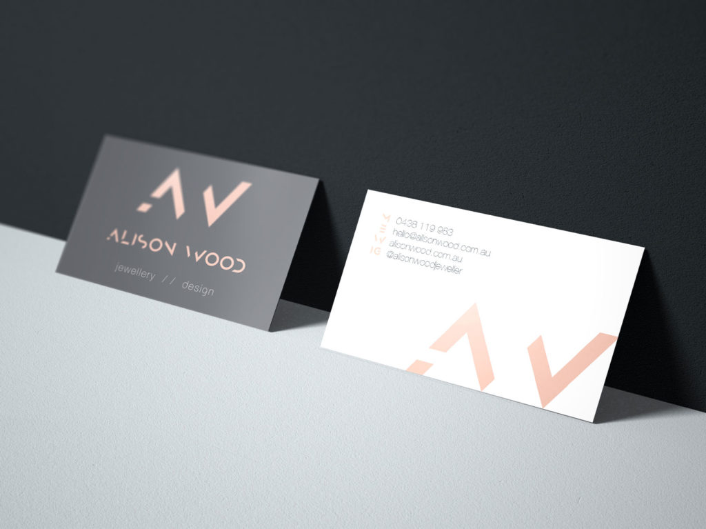 Alison Wood Jeweller Business Cards | Graphic Design Adelaide
