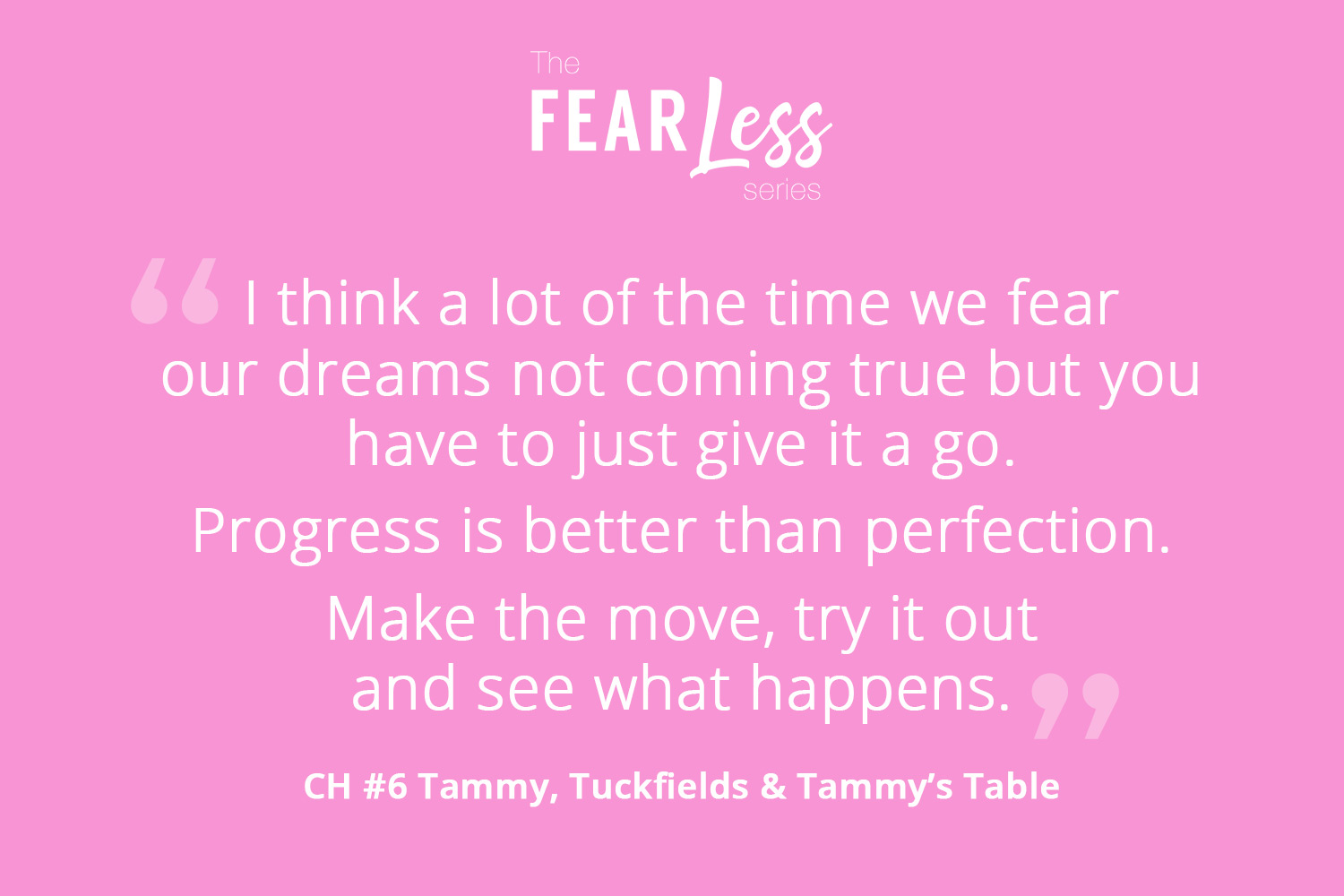 Tuckfields - Fear Less Series - Chapter 6